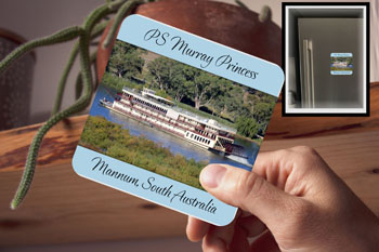 Drink Coaster PS Murray Princess Mannum Magnetic (fridge magnet)