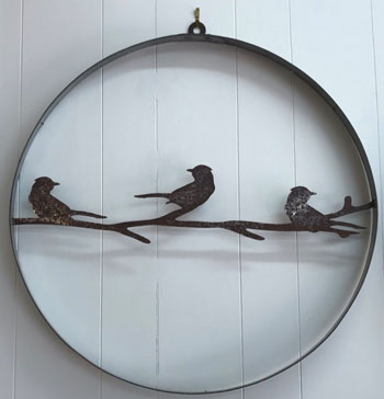 Metal Art - Birds on Branch Wall Hanger