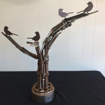 Metal Art - Bird Tree
