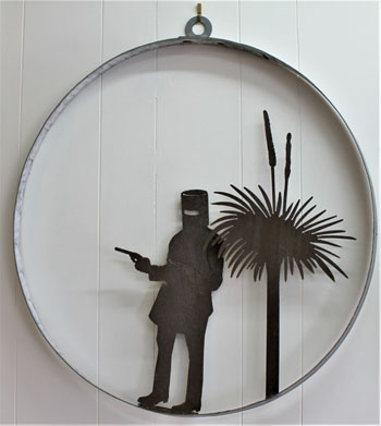 Metal Art - Bushranger Wall Hanger.